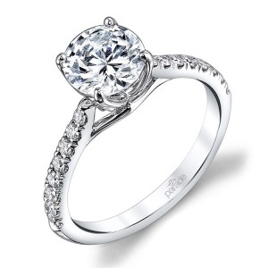 Parade New Classic R3671B 14 Karat Diamond Engagement Ring