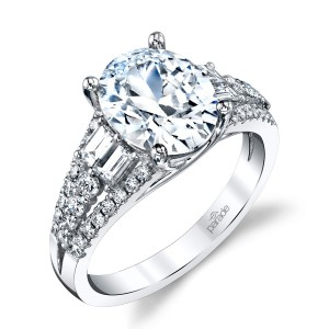 Parade Hemera Bridal R4385 Platinum Diamond Engagement Ring