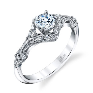 Parade Hera Bridal R4450 14 Karat Diamond Engagement Ring