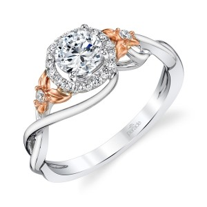 Parade Lyria Bridal Platinum Two-Tone Diamond Engagement Ring R4685