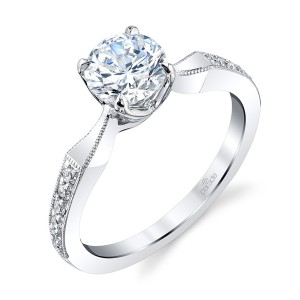 Parade New Classic Bridal R4115 Platinum Diamond Engagement Ring