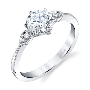 Parade New Classic Bridal R4315 14 Karat Diamond Engagement Ring