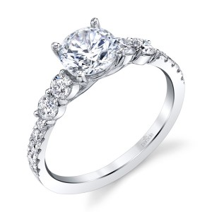 Parade New Classic Bridal R4334 Platinum Diamond Engagement Ring