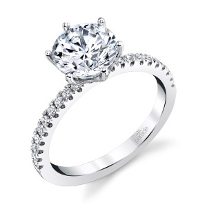 Parade New Classic Bridal R4367 Platinum Diamond Engagement Ring