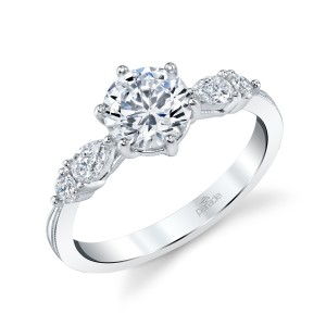 Parade New Classic Bridal R4680 14 Karat Diamond Engagement Ring