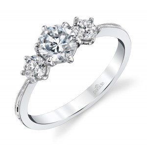 Parade New Classic Bridal R4687 14 Karat Diamond Engagement Ring