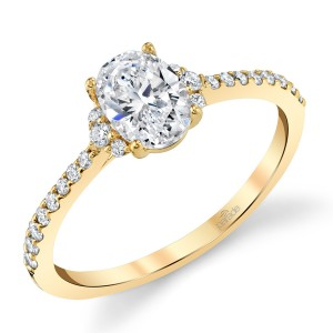 Parade New Classic Platinum Diamond Engagement Ring R4684