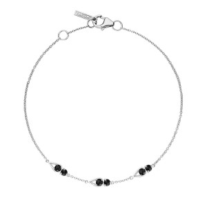 SB23119 Tacori Petite Open Crescent Bracelet with Black Onyx