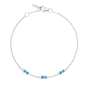 SB23133 Tacori Petite Open Crescent Bracelet with London Blue Topaz