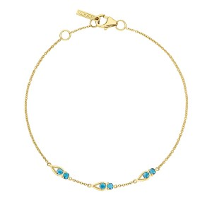 SB23133FY Tacori Petite Open Crescent Bracelet with London Blue Topaz