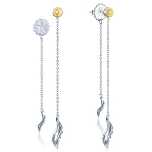 Tacori SE237 Crescent Cove Double Petite Wavelet Thread Earrings
