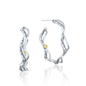 Tacori SE239 Crescent Cove Wave Hoop Earrings