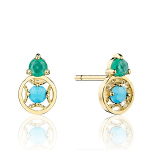 Tacori SE2544849FY Petite Gemstone Earrings with Turquoise and Green Onyx