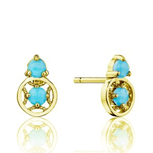 Tacori SE25448FY Petite Gemstone Earrings with Turquoise