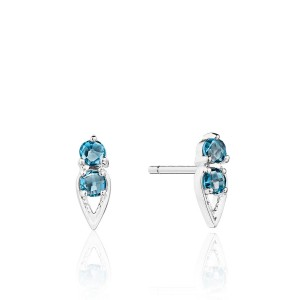 Tacori SE25533 Petite Open Crescent Earrings with London Blue Topaz