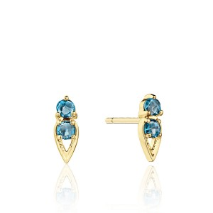 Tacori SE25533FY Petite Open Crescent Earrings with London Blue Topaz