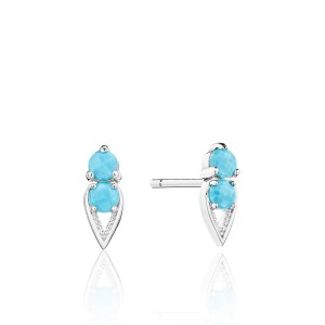 Tacori SE25548 Petite Open Crescent Earrings with Turquoise