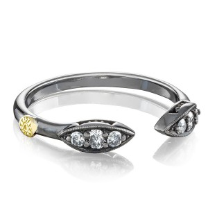 Tacori SR200BR The Ivy Lane Pavé Surfboard Ring