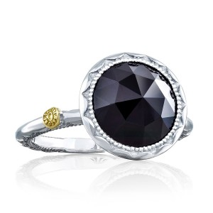 Tacori SR22219 Classic Rock Crescent Bezel Black Onyx Ring