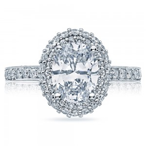 HT2522OV9X7 Platinum Tacori Blooming Beauties Engagement Ring