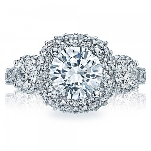 HT2524CU75 Platinum Tacori Blooming Beauties Engagement Ring