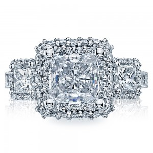 HT2526PR7 Platinum Tacori Blooming Beauties Engagement Ring