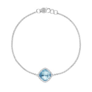 SB22302 Tacori Solitaire Cushion Gem Bracelet with Sky Blue Topaz