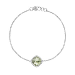 SB22312 Tacori Solitaire Cushion Gem Bracelet with Prasiolite