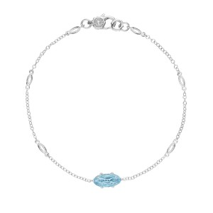 SB22402 Tacori Solitaire Oval Gem Bracelet with Sky Blue Topaz