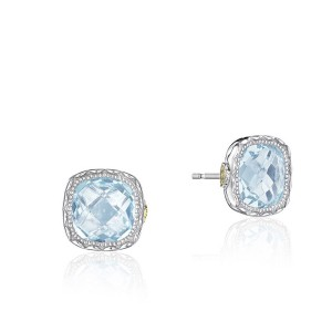 Tacori SE24702 Cushion Gem Earrings with Sky Blue Topaz