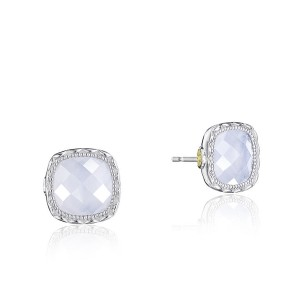 Tacori SE24703 Cushion Gem Earrings with Chalcedony