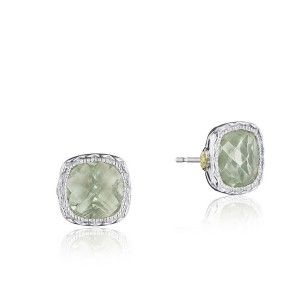 Tacori SE24712 Cushion Gem Earrings with Prasiolite