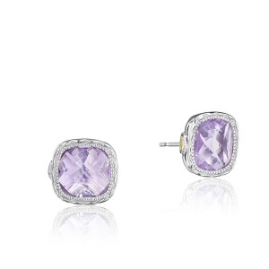Tacori SE24713 Cushion Gem Earrings with Rose Amethyst