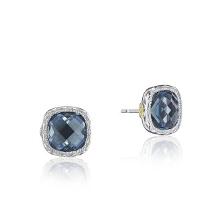 Tacori SE24733 Cushion Gem Earrings with London Blue Topaz