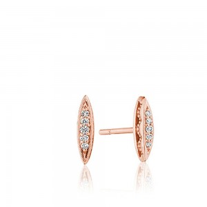 Tacori SE251P The Ivy Lane Mini Surfboard Studs with Diamonds