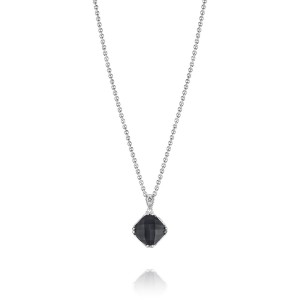 Tacori SN23119 Classic Rock Petite Cushion Cut Gem Necklace