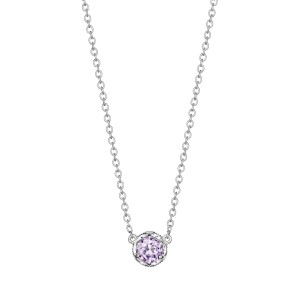 Tacori SN23613 Cushion Gem Necklace with Rose Amethyst