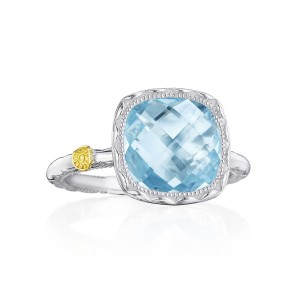 Tacori SR23102 Cushion Gem Ring with Sky Blue Topaz