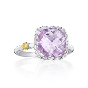 Tacori SR23113 Cushion Gem Ring with Amethyst