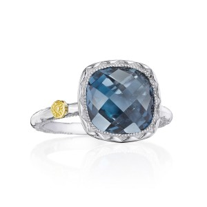Tacori SR23133 Cushion Gem Ring with London Blue Topaz