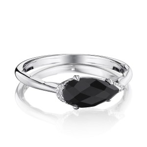 Tacori SR23319 Solitaire Pear-Shaped Ring with Black Onyx
