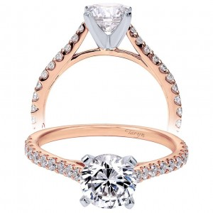 Taryn 14k Rose Gold Round Straight Engagement Ring TE7227K44JJ