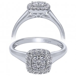 Taryn 14k White Gold Halo Engagement Ring TE10776W44JJ