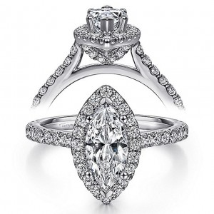 Taryn 14k White Gold Marquise Diamond Engagement Ring TE7259M4W44JJ