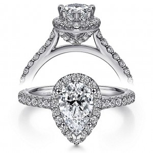 Taryn 14k White Gold Pear Shape Diamond Engagement Ring TE7259P4W44JJ