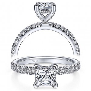 Taryn 14k White Gold Princess Cut Diamond Engagement Ring TE13904S4W44JJ