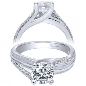 Taryn 14k White Gold Round Bypass Engagement Ring TE10260W44JJ