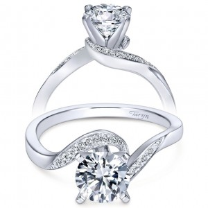 Taryn 14k White Gold Round Bypass Engagement Ring TE7244W44JJ