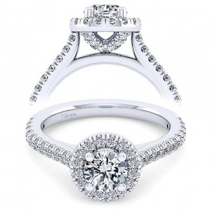 Taryn 14k White Gold Round Diamond Engagement Ring TE11460W44JJ