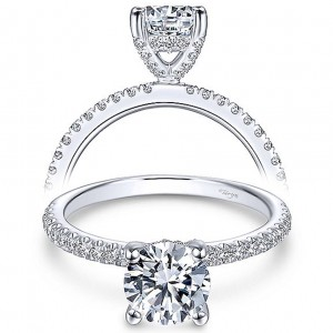 Taryn 14k White Gold Round Diamond Engagement Ring TE13903R4W44JJ